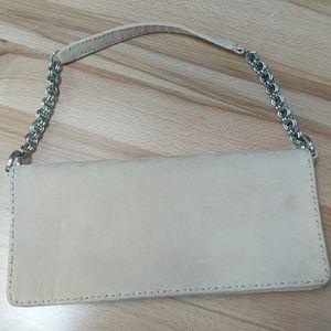 Cream Suede Ann Taylor purse